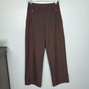 Lucy Brown Straight Leg Athletic Yoga Pants, XS